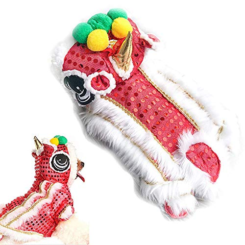 Chinese New Year Lion Dance Costumes - ewrTM00sdQ Pet Clothes Halloween Christmas Lion