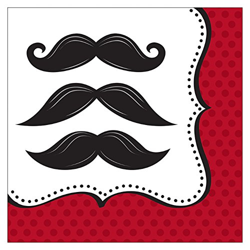 Creative Converting Mustache Madness Lunch Napkins, 16 Count for $<!--$3.59-->