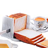 Generic Kitchen Pro Bread Loaf Slicer Slicing Cutter Cutting Cuts Even Slices Guide Tool, White