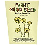 Resina Calendula Flower Seeds (~75): Non-GMO, Heirloom, Open Pollinated Seeds from The United States