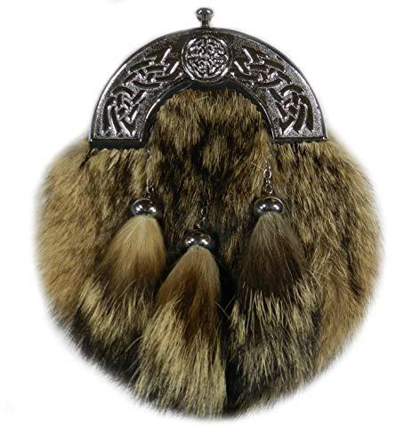 Scottish Kilt Coyote Fur Sporrans - Formal or Semi Formal - Kilt Charlie Prince