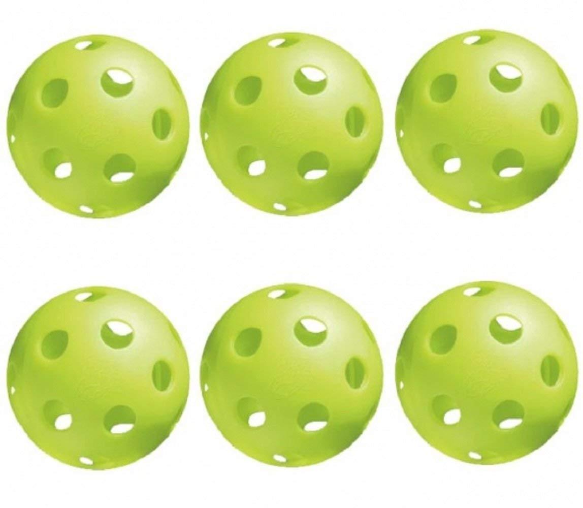 Jugs Pickleballs Lime Green - 6 Pack