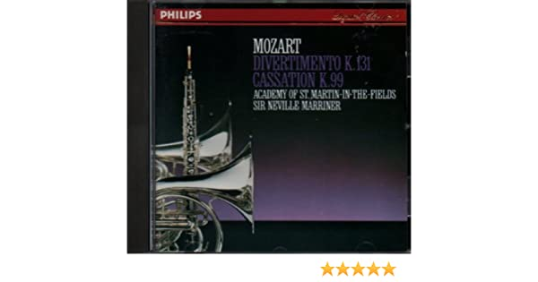 Wolfgang Amadeus Mozart, Neville Marriner, Academy of St Martin in the Fields - Mozart Divertimento KV 131 & Cassation KV 99 - Amazon.com Music