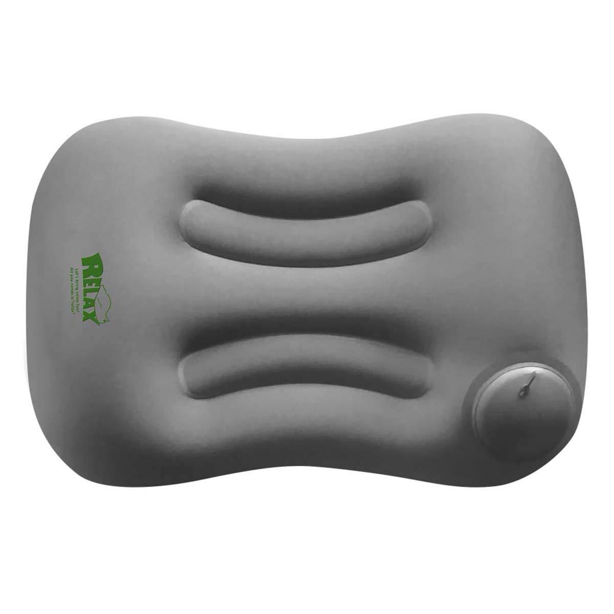 (リラックス)RELAX アウトドアピロー トラベル 携帯枕 トラベルピロー アウトドア用品 コンパクト (グレー)