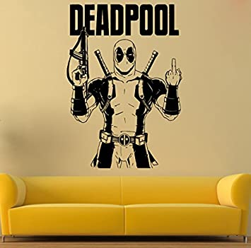 Deadpool Wall Vinyl Decal Deadpool Wall Vinyl Sticker Comics Decals ...