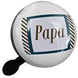 Small Bike Bell Papa Father's Day Navy Blue and Army Green Border - NEONBLOND