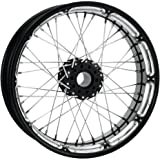 Performance Machine Spoked Wire Platinum Cut 21x2.15 Front Wheel , Color: Black, Position: Front, Rim Size: 21 12406103RSPKBMP