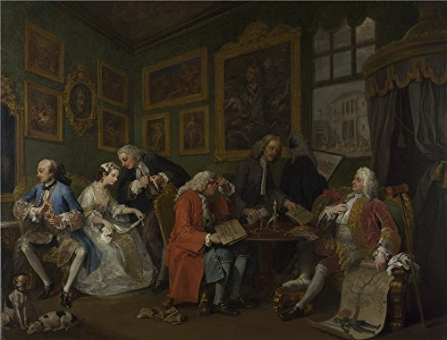 Oil Painting 'William Hogarth Marriage A La Mode 1 The Marriage Settlement', 16 x 21 inch / 41 x 53 cm , on High Definition HD canvas prints is for - 1973 Sunglasses Viking