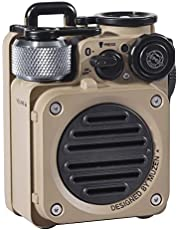 Muzen Wild Mini Rugged Outdoor Speaker, Bluetooth 5.0 Portable Speaker with Built-in Flashlight, Crystal Clear Sound, Wireless Waterproof Speakers for Travel, Outdoors