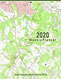 2020 Weekly Planner: South Gastonia, North Carolina (1973): Vintage Topo Map Cover