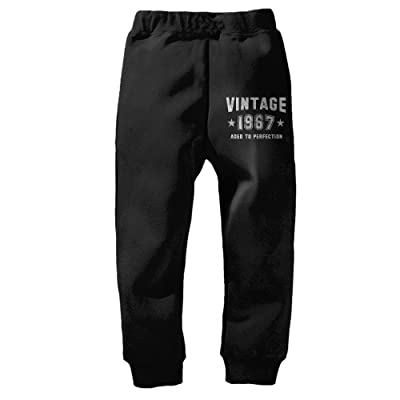 Aged To Perfection 1967Kid's Winter Cotton Unisex Little Boys' Girls' Active Basic Jogger Pants