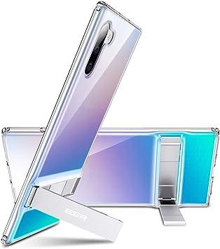 ESR Funda Metal Kickstand para Samsung Note 10,Patilla Soporte Bidireccional,Protección Reforzada.Tapa PC/Parachoques TPU Flexible para Samsung Galaxy Note 10 Transparente: Amazon.es: Electrónica