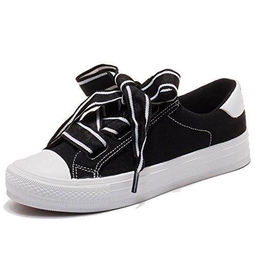Shoes Scegliere 5 Estate Da uk6 Rosa Due Tra cn40 Retro Donna Eu39 Cui Colore Fashion Dimensioni Scarpe Canvas Nan Nero Colori U0q7fw1nf