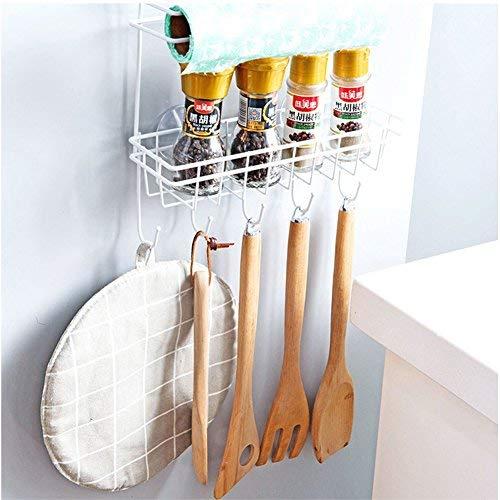 soporte para colocar encima de la puerta Daynecety soporte para especias y tarros Estanter/ía de almacenamiento para colgar en los laterales del frigor/ífico varios estantes