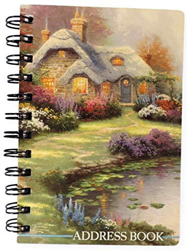 (Hallmark Thomas Kinkade Address Book Small Spiral Bound Everett's Cottage)