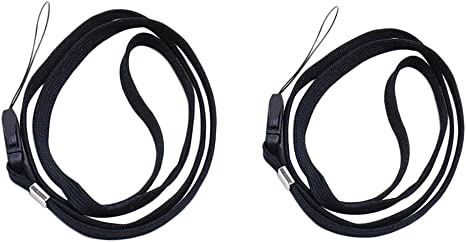 16 inch 1 x Black Neck Strap Lanyard for Mp3 Phone ID Card USB Drive Key Gift UK