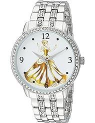 Disney Womens Princess Quartz Metal and Alloy Casual Watch, Color:Silver-Toned (Model: WDS000231)
