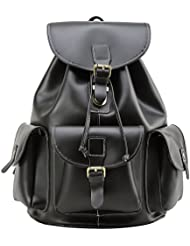 Leather Backpack, Berchirly Vintage Real Leather Travel Backpacks Rucksack School Laptop Camping Hiking Bag for...