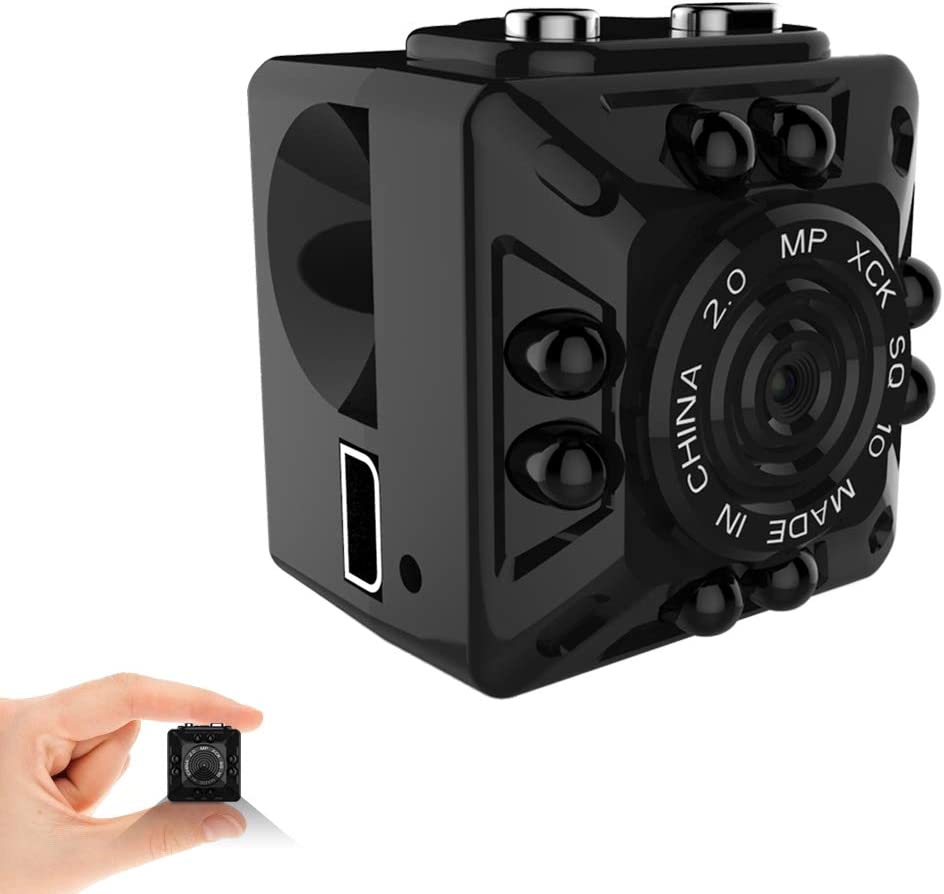 Mini Camera HD 1080P Portable Tiny Nanny Cop Cam Indoor Wireless Security Covert Video Recording Cam with Night Vision for Home, Office, Car