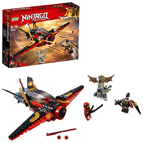 LEGO Ninjago Destiny's Wing Toy Jet Plane, Kai & Jet Jack Minifigures, Airplane Building Sets for Kids