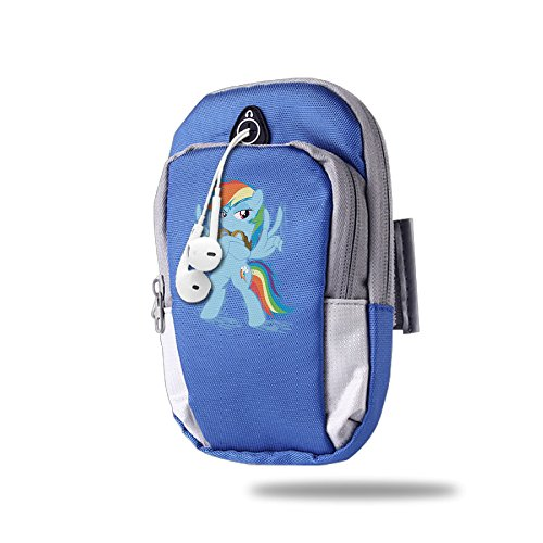 [CGHFW Rainbow Dash Outdoor Sports Multifunctional Pockets Arm Bag Zipper Bag Gym Running Sport Workout Armband For Running Trekking Hiking Cycling Mounting Strolling] (Zipper Costume Face)