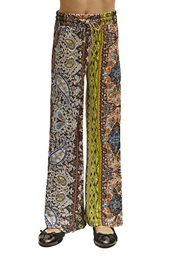 Golden Black Big Girls Printed Jersey Palazzo Pants 179 M by Golden Black