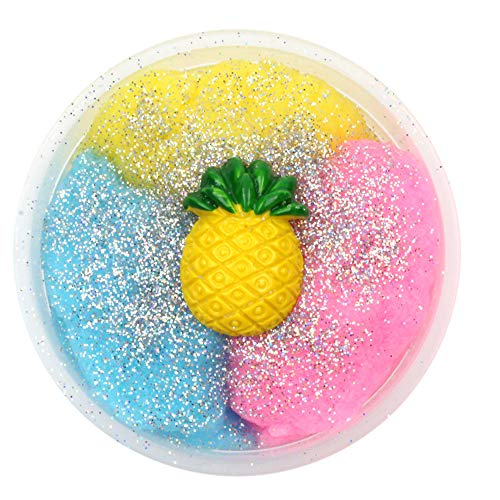 Kanzd Colorful Pineapple Mixing Cloud Cotton Candy Slime Scented Stress Kids Clay Toy (C)