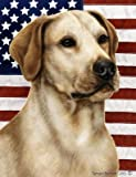 Cheap Yellow Labrador – Best of Breed Patriotic II Large Flags