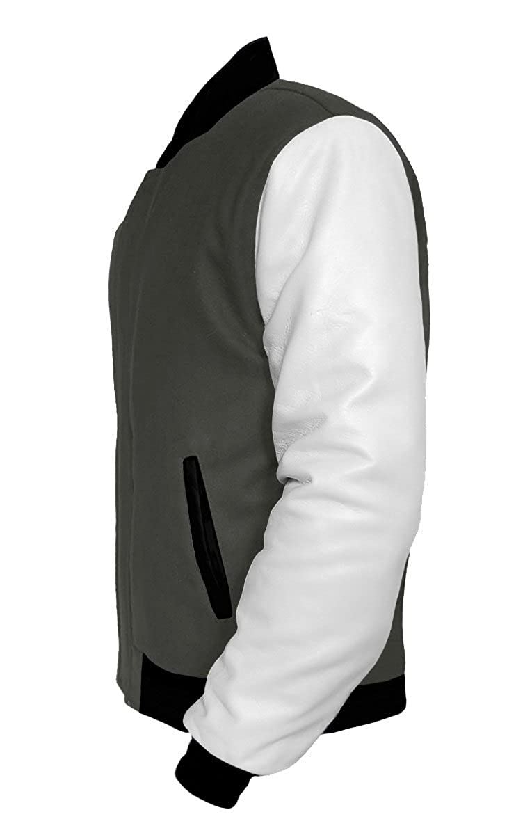 luvsecretlingerie Original American Varsity White Leather Sleeve Letterman College Baseball Kid Wool Jackets #WS-BB-BP