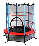 "Youth Jumping Round Trampoline 55"" Exercise W/ Safety Pad Enclosure Combo Kids"