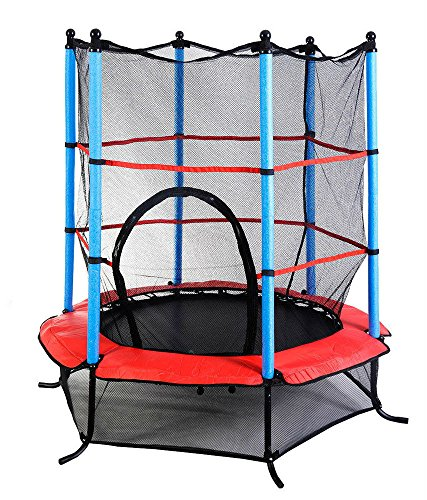 "Youth Jumping Round Trampoline 55"" Exercise W/ Safety Pad Enclosure Combo Kids by Unknown"