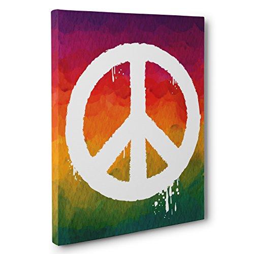 Rainbow Peace Sign CANVAS Wall Art Home Décor