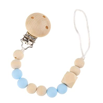 Childplaymate Silicone Beads Pacifier Clip Cute Baby Teethers Necklaces Chew Toy Gifts