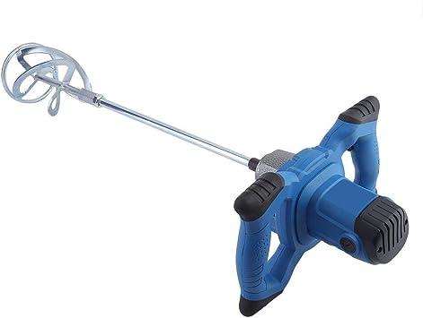 1600w,azul Mezclador de paletas Taladro Agitador de cemento con selecci/ón de marcha Etapa Interruptor de seguridad Herramienta de mano para mezclar Pintura de yeso Adhesivo de pegamento de mortero