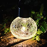 2PACK Solar Glass Jar With Hanger Sogrand Small Glass Jars with Lids Hanging Lights Hanging Solar Lights Outdoor