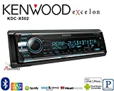 Volunteer Audio Kenwood KDC-X502 Car Stereo Double Din Radio with Bluetooth, CD Player, USB/AUX