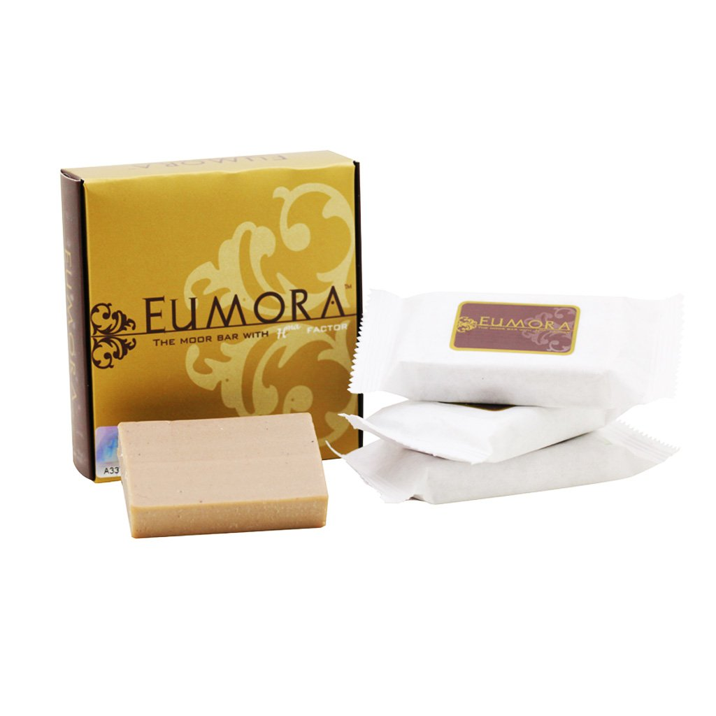 Eumora Moor Bar (Box of 4), Facial Cleansing Soap for All Skin Types, Anti-Aging, Acne, Men & Women