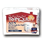 Principle Business Ent Tranquility Atn (all-through-the-night) Disposable Brief - 1 bags of 12 by Tranquility/Principle Bus Ent (English Manual)