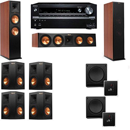 Klipsch RP-280F Tower Speakers CH-SW-112-7.2-Onkyo TX-NR838