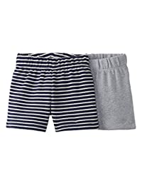 Moon and Back by Hanna Andersson Baby Boys' and Girls' 2 Pk Shorts