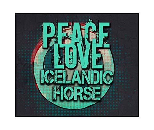 Love Icelandic Horse - Makoroni - Peace Love Icelandic Horse - Jigsaw Puzzle, 30 pcs.
