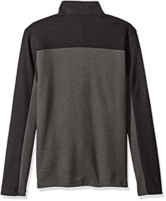 Calvin Klein Men's Long Sleeve Quarter Button Color Block Sweater