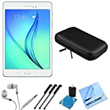 Samsung Galaxy Tab A SM-T350NZWAXAR 8-Inch Tablet (16 GB, White) Bundle includes Tablet, Headphones, Sleeve, 3 Stylus Pens, Lens Cleaning Kit and Micro Fiber Cloth