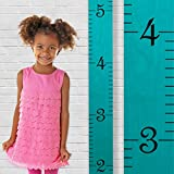 Growth Chart Art | Growth Ruler Wood Chart for Boys & Girls | Height Ruler | Measuring Kids Height Wall Décor | Kids Ruler in Robins Egg Blue
