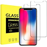 Besprotek Screen Protector for iPhone X, (2 Pack) iPhone X Tempered Glass Screen Protectors for iPhone X 2017 work with most case 99% Touch Accurate
