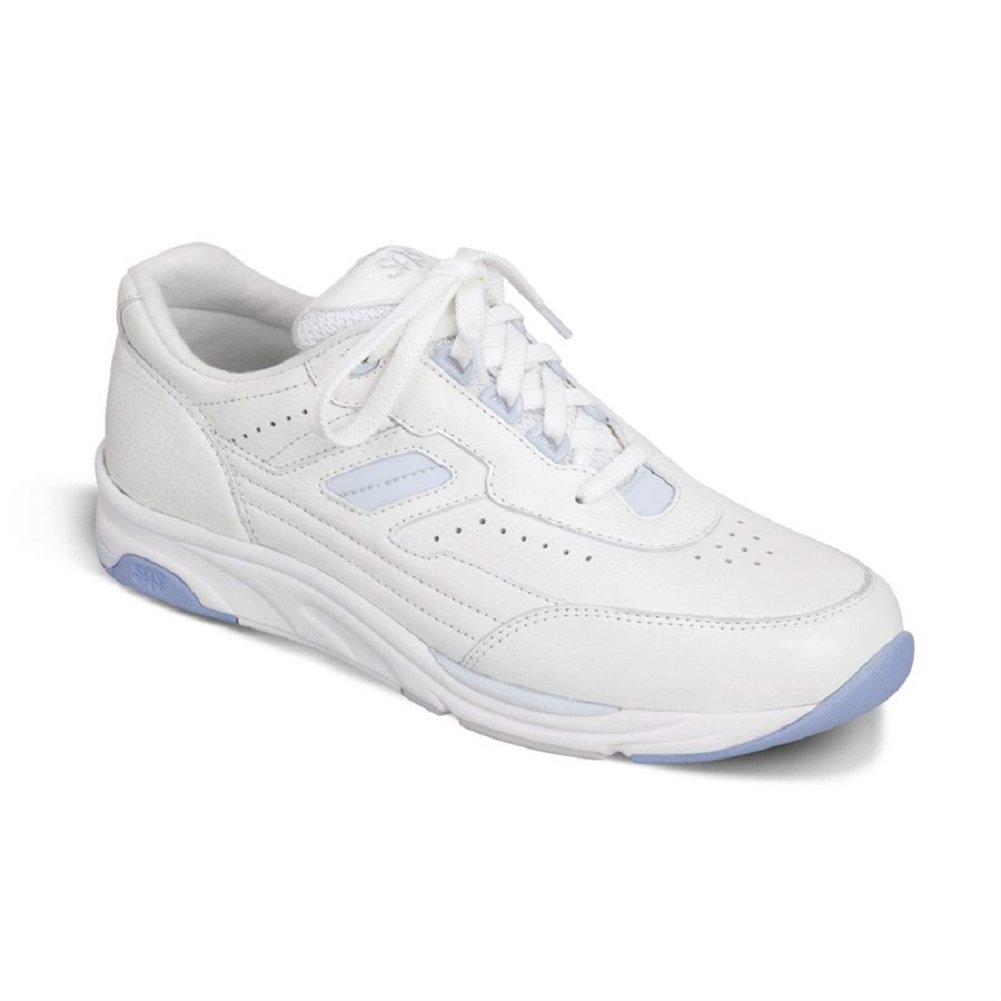 SAS Women's Tour lace up Active comfort shoe B076FDP8GT 9.5 WWW - Triple Wide (E-EE) US|White