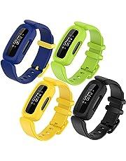 Pheant Armband kompatibelt med Fitbit Ace 3 armband för barn 6+, mjukt silikon ersättningsarmband för Fitbit Inspire 2 sportarmband för pojkar flickor