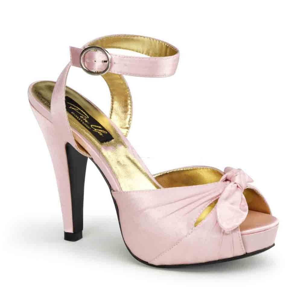 Pin Up Couture Pleaser Women's Bettie-04/BP Ankle-Strap Sandal B00HV9XVUY 9 B(M) US|Baby Pink Satin