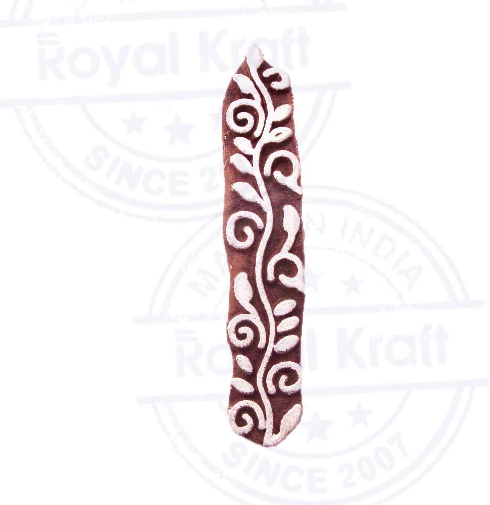Royal Kraft Rand Holz Blumen Drucken Bl/öcke Stempel DIY Henna Stoff Textil Papier Ton Keramik Blocke Druckstempel THtag001