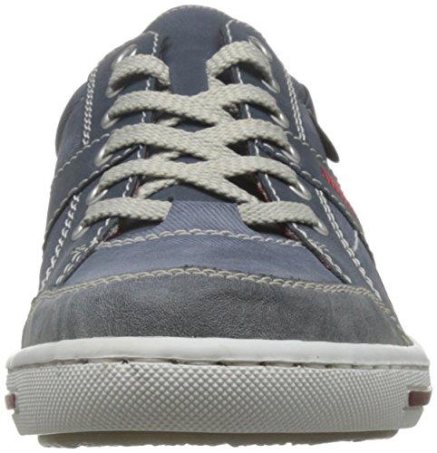 Rieker 19013-42 19013-42 - Zapatillas para hombre Azul (Blau (rauch/jeans/denim 47))